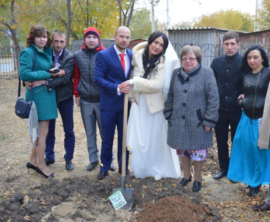 В Астрахани появилась новая аллея молодоженов