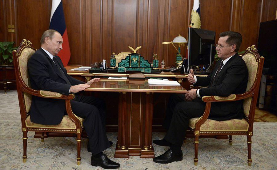 Владимир Путин выслушал Александра Жилкина