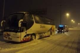 Астраханский автобус замерз в Ставрополье