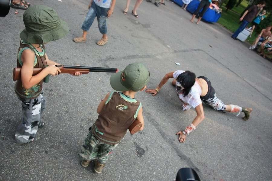 В спальных районах Астрахани снимают постапокалиптические короткометражки