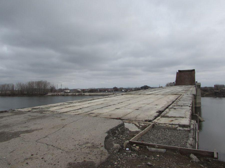 На Кирикилинском мосту пропали все заграждения