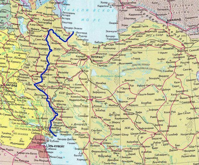 Каспийское море планируют связать с Персидским заливом