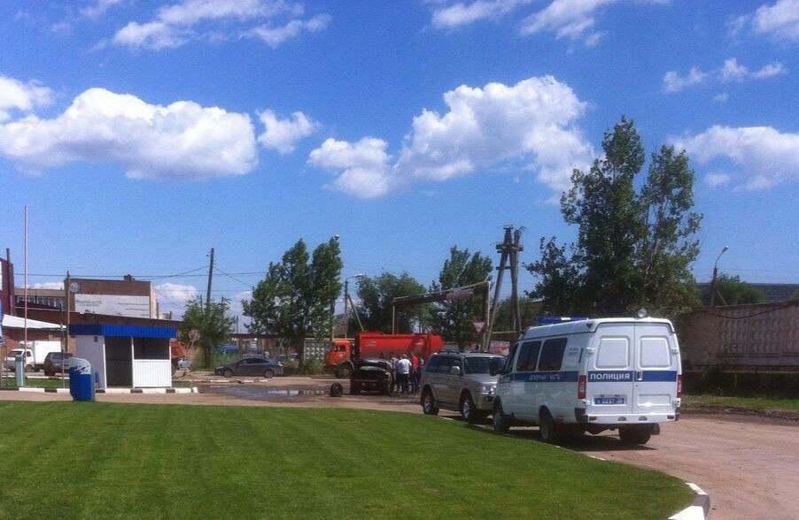 На заправке в Астрахани сгорел автомобиль