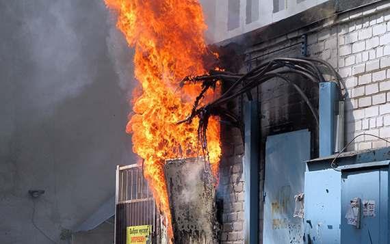 Трансформаторная подстанция загорелась в Астрахани в выходные