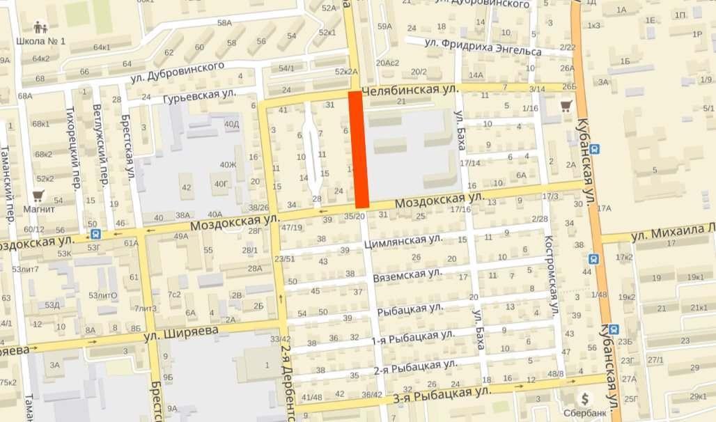 В Астрахани в районе улицы Моздокской ограничат движение