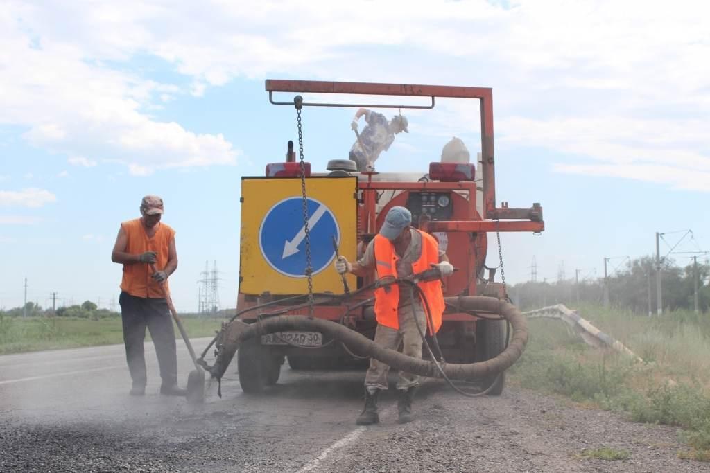 Начат ремонт участка дороги АГПЗ — Астрахань