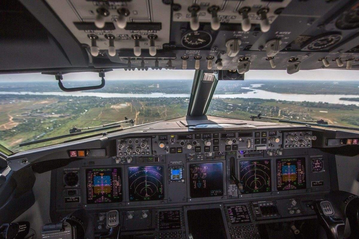 Астрахань из кабины пилота