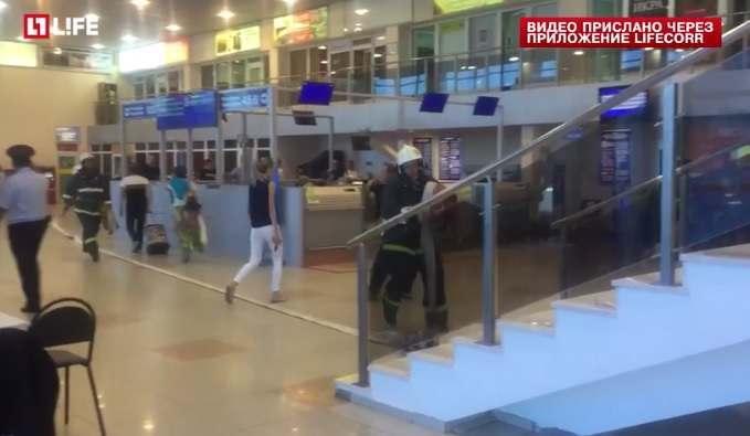 В аэропорту Астрахани горело кафе
