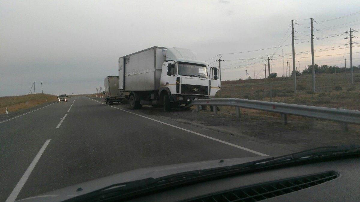 Под Астраханью уснул за рулем водитель МАЗа