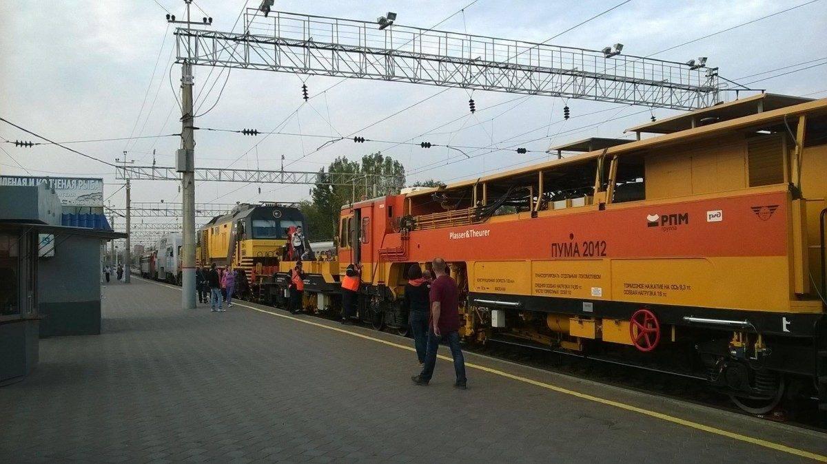Выставку железнодорожной техники посетили две тысячи астраханцев