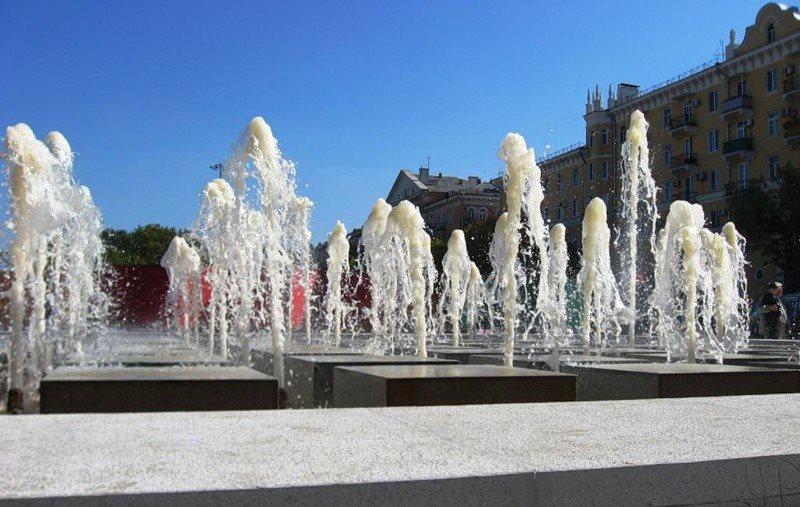 Астраханские фонтаны уходят зимовать