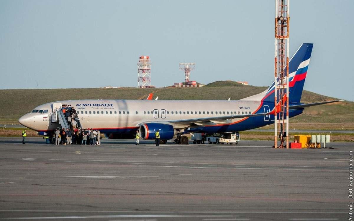 В аэропорту Астрахань возросло число международных туристов