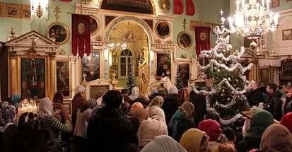 В каких храмах Астрахани пройдут Рождественские службы