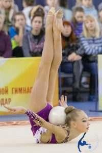 Астраханские гимнастки на сборе в Москве