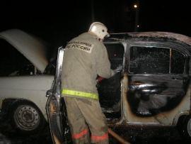Рано утром под Астраханью горел неисправный автомобиль