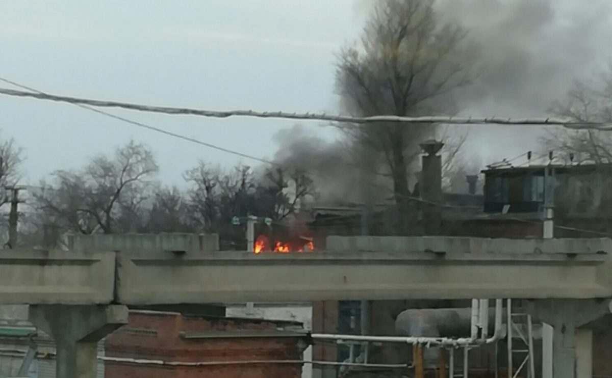 Астраханский тепловозоремонтный завод снова загорелся