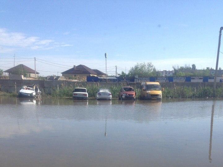В Астрахани паводок пришел куда не ждали
