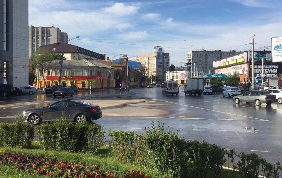В Астрахани заработала ливневка