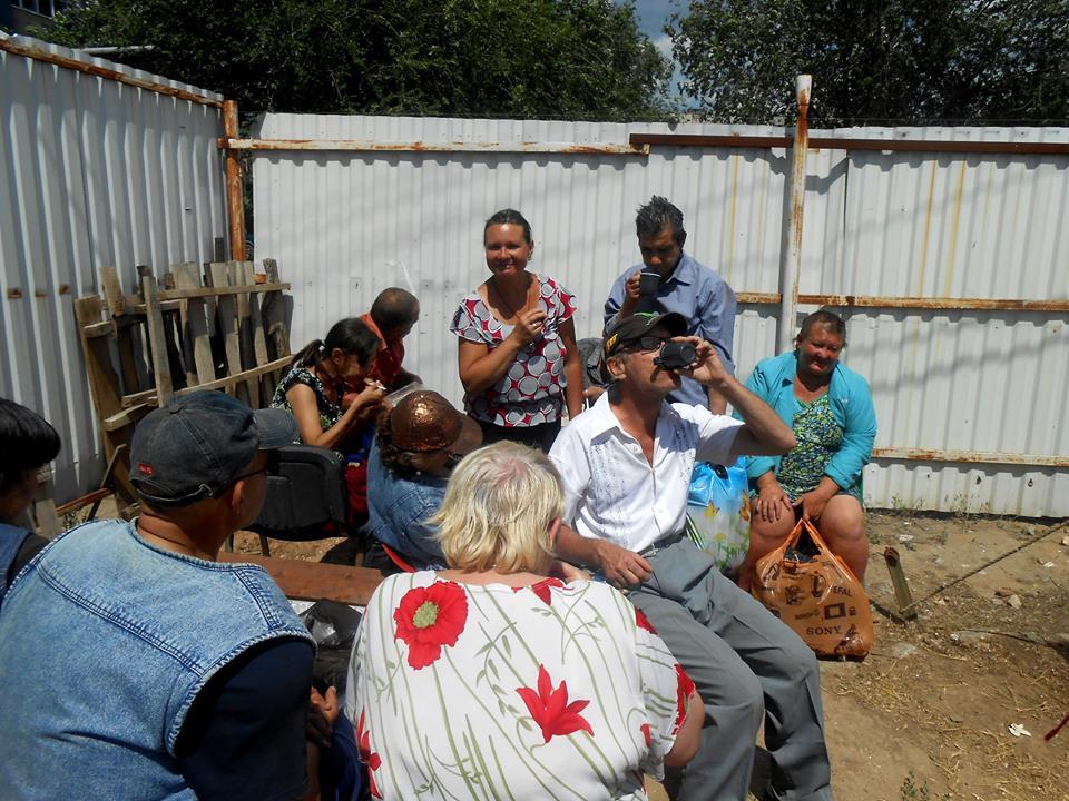 В Астрахани накормили бездомных