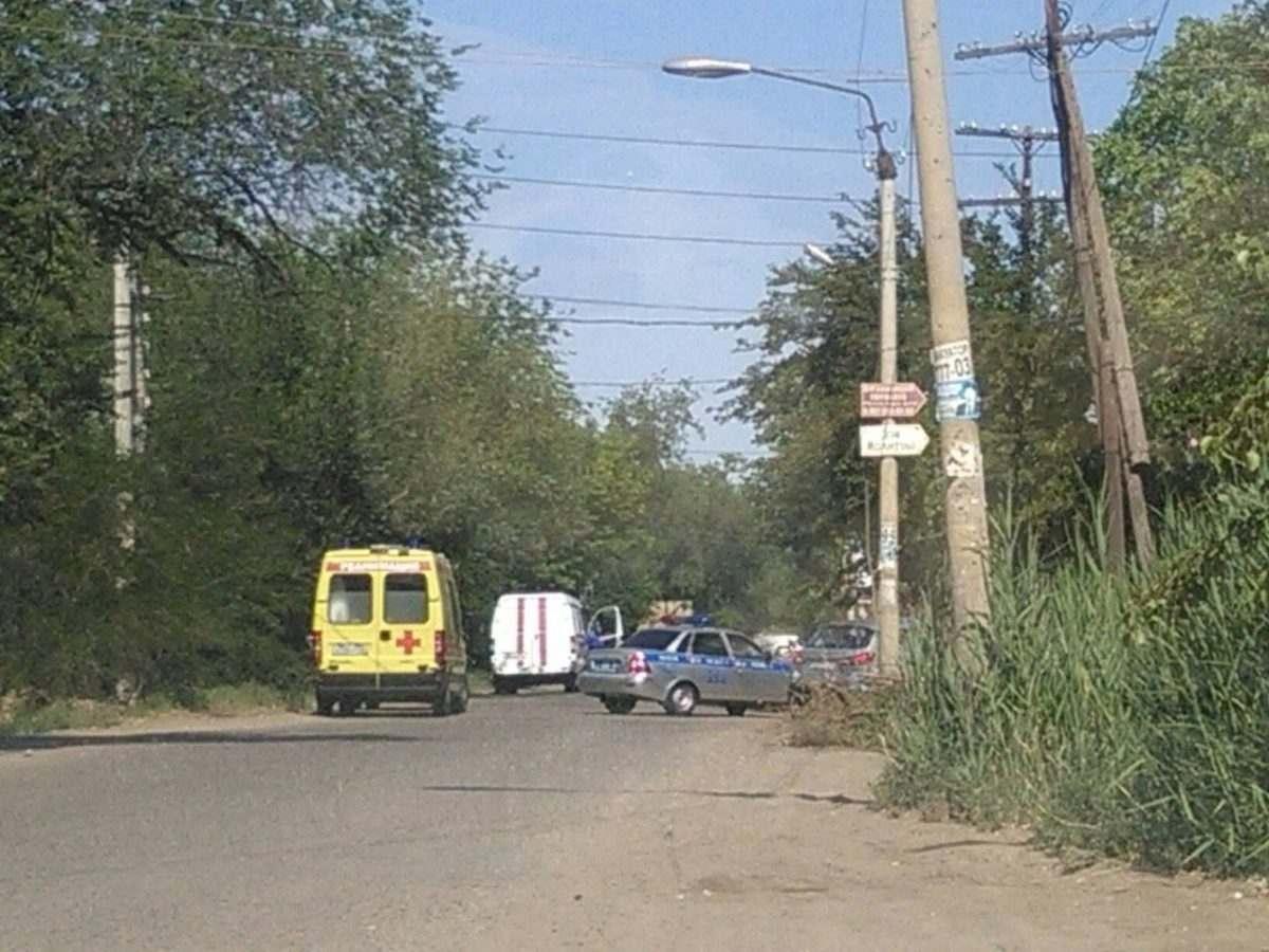 В Астрахани оцепляли улицу Авиационную