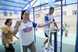 Астраханцы смогут подкачаться на территории больницы
