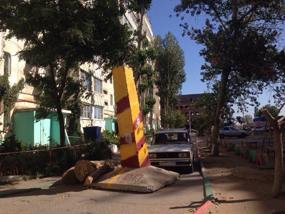 В Астрахани вновь установили ограничительное «надгробие»