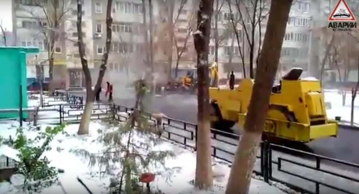 История с укладкой асфальта в снегопад получила продолжение