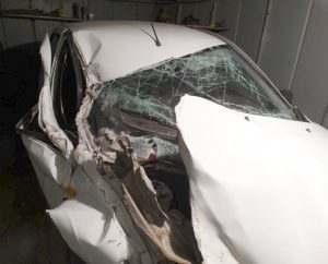 Астраханец на «Гранте» врезался в стоявший грузовик
