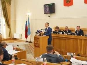 В Думу Астраханской области внесен проект закона о бюджете