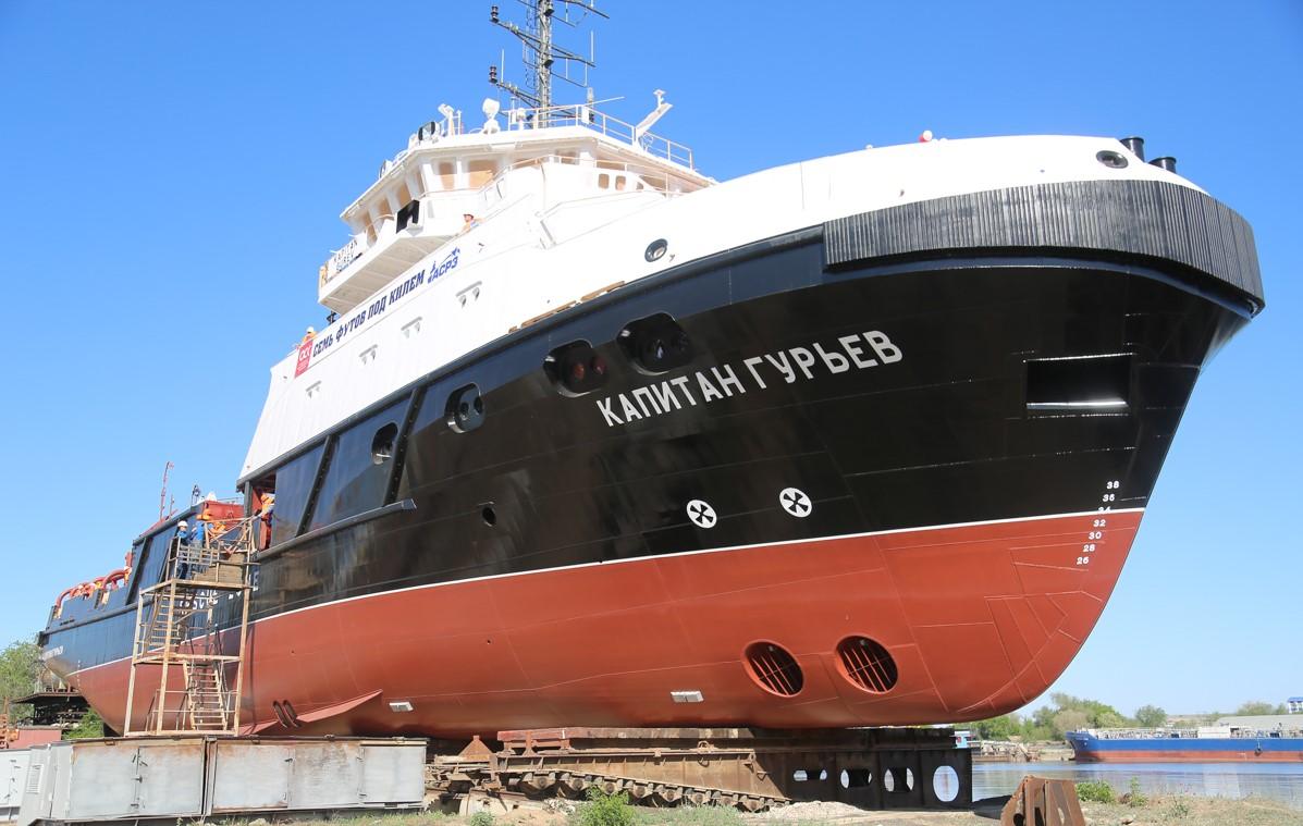 Черноморский флот получил новое судно от судостроителей из Астрахани
