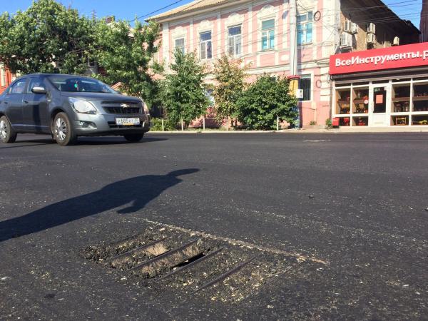 Часть улицы Адмиралтейской осталась без ливневок после ремонта