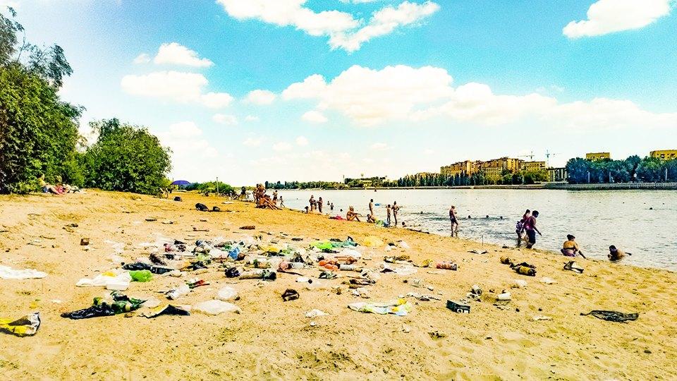 Как выглядит Центральный городской пляж Астрахани