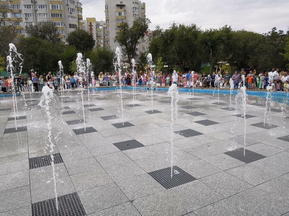 В парке «Аркадия» запустили фонтан после реконструкции