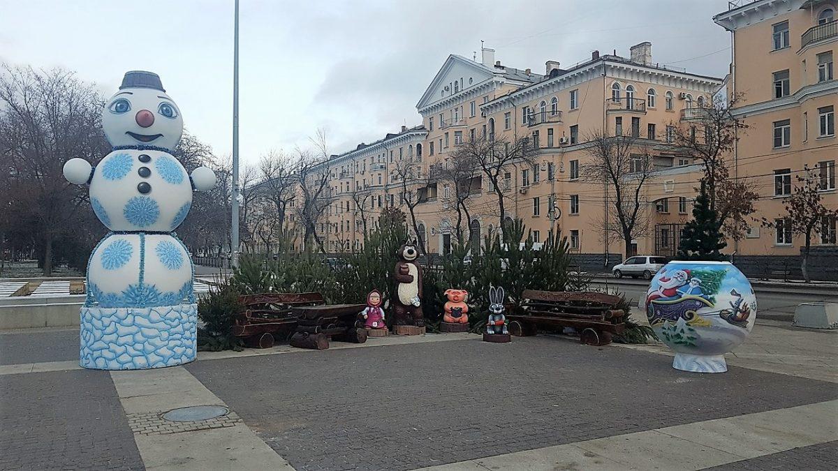 Площадь Ленина оборудовали фотозоной к Новому году