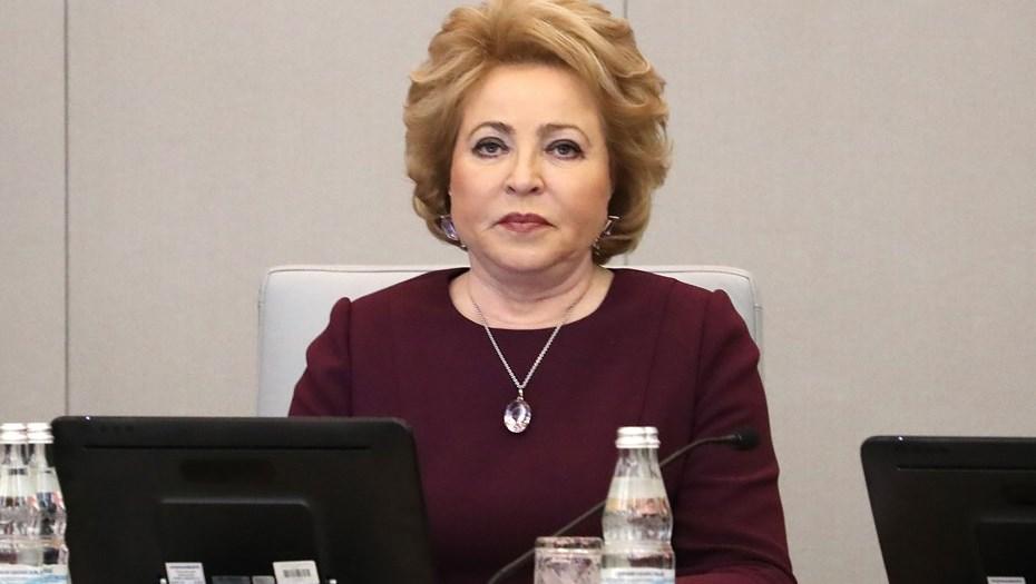 Валентина Матвиенко пожаловалась Медведеву на плохое качество воды
