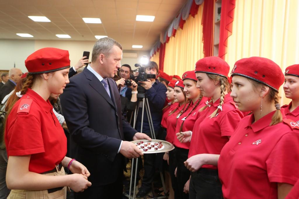 Сергей Морозов — юнармейцам: «Я вами горжусь, за вами будущее»