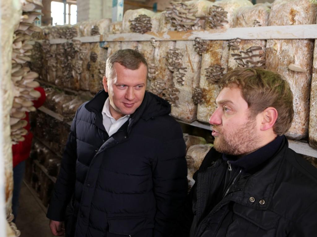 Сергей Морозов пообещал помочь грибному бизнесу