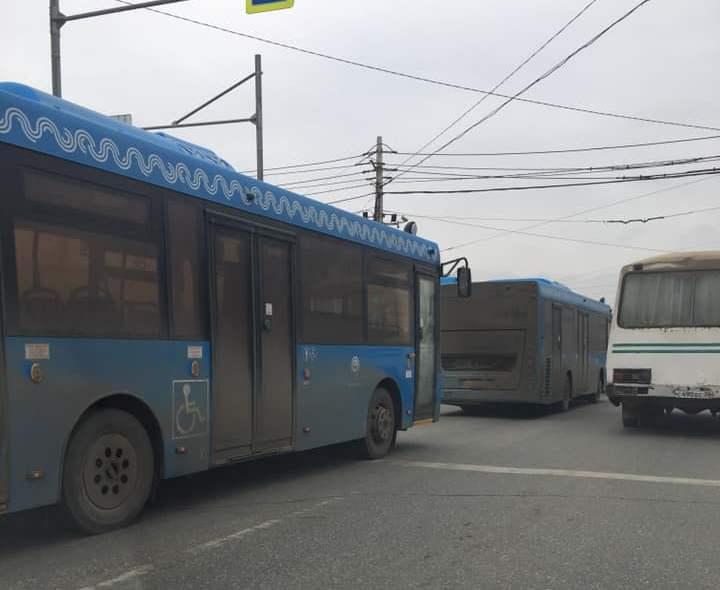 В Астрахань прибыли обещанные большие автобусы из Москвы