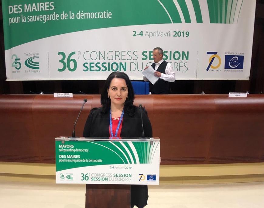 Алена Губанова принимает участие в работе Конгресса местных и региональных властей Совета Европы