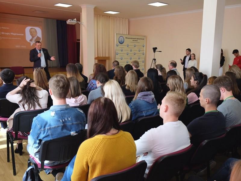 Игорь Мартынов выступил экспертом в молодежном проекте «Диалог на равных»