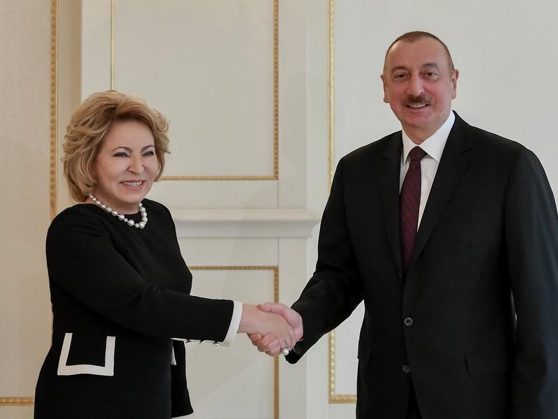 Состоялась встреча Валентины Матвиенко с Ильхамом Алиевым