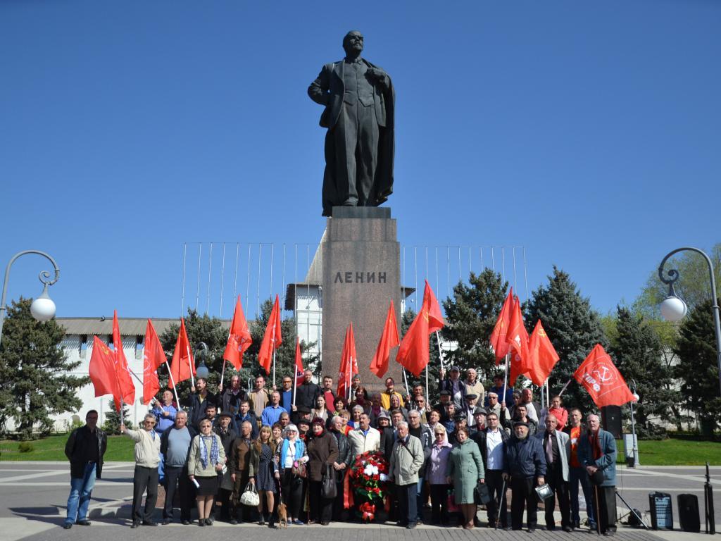 Астраханские коммунисты отметили 149-летие со дня рождения В. И. Ленина