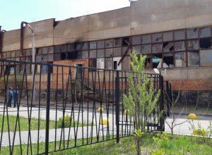 В Астрахани горел бывший корпус завода «Прогресс»