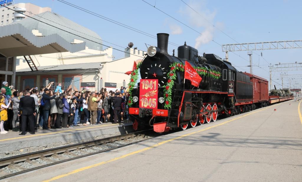 Астраханцы первыми встретят ретропоезд «Воинский эшелон» Приволжской магистрали