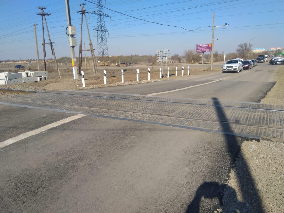 Железнодорожный переезд и пешеходный переход капитально отремонтировали в городе Ахтубинске