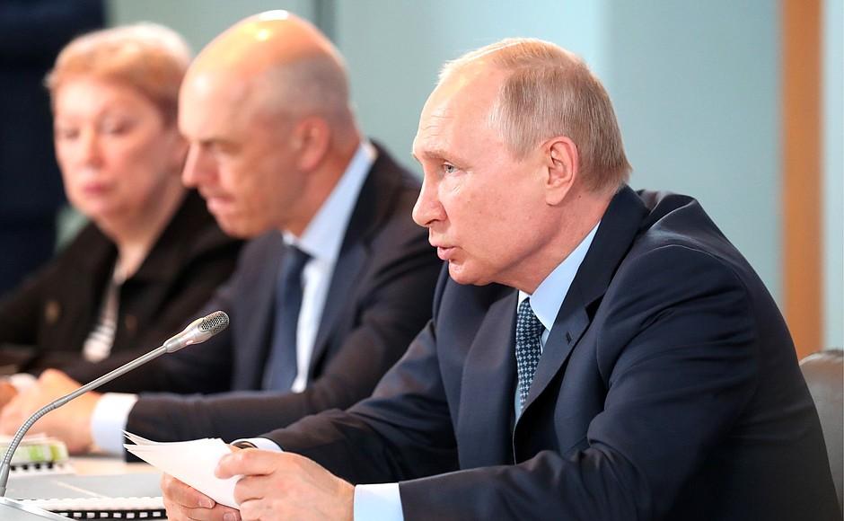 Путин: АО обладает необходимым потенциалом, чтобы выйти на траекторию устойчивого роста