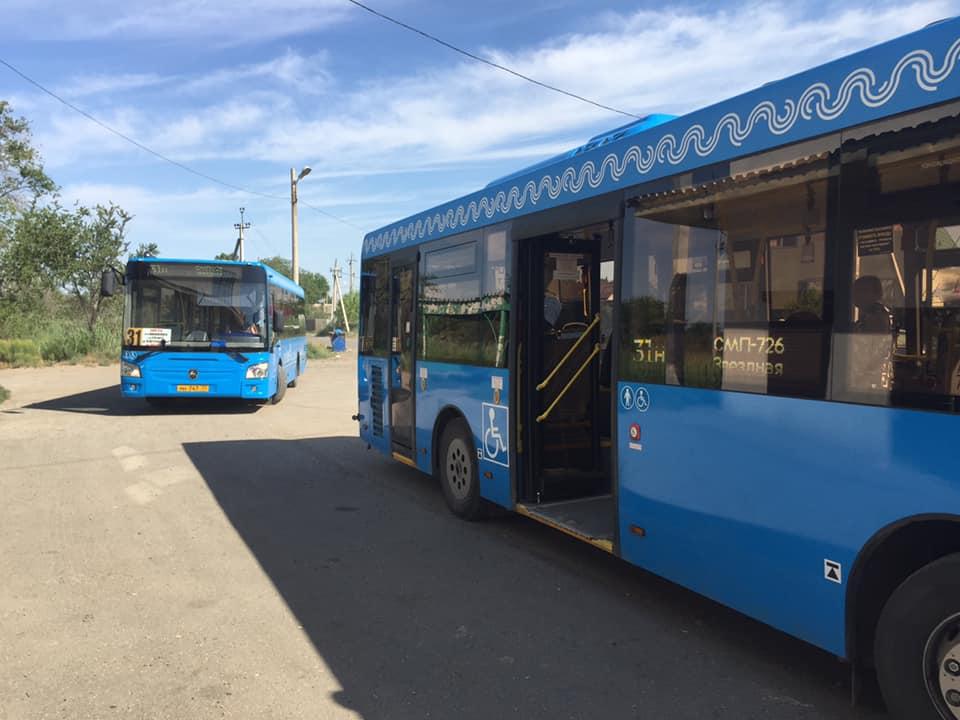 Новые автобусы в Астрахани вышли на еще один маршрут