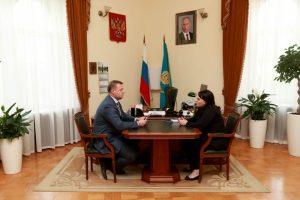 Врио главы АО встретился с главой Астрахани Аленой Губановой