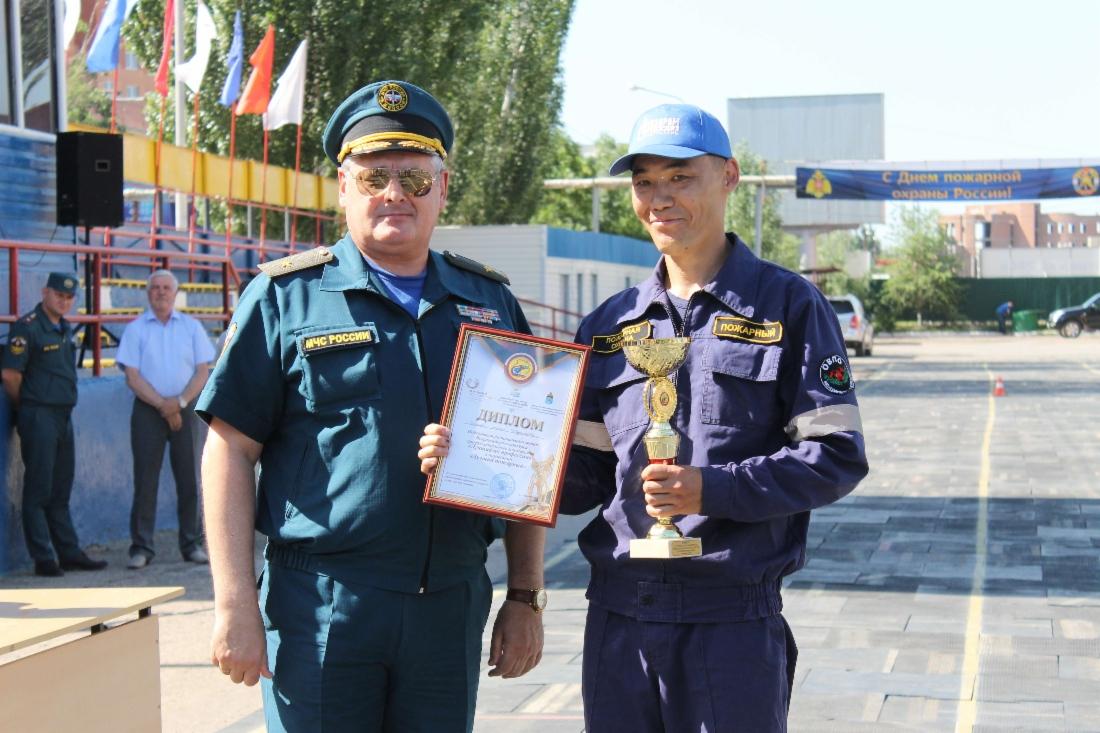 Работник ООО «Газпром добыча Астрахань» стал лучшим пожарным в регионе