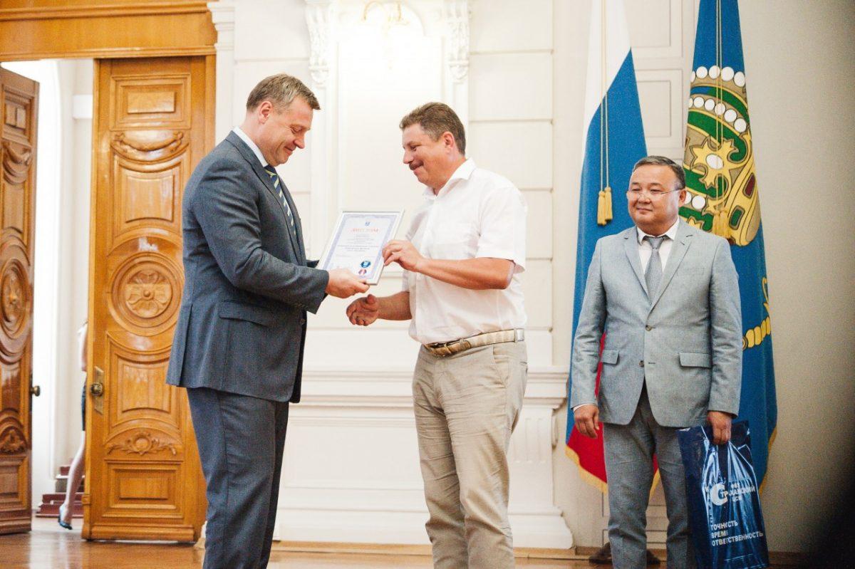 Врио губернатора Астраханской области отметил сеть МегаФона знаком качества